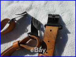 Swedish AG42b 1896 1938 mauser rifle brown leather sling excellent condition