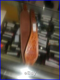 Ted Blocker Rifle Sling Tooled Leather. Very nice