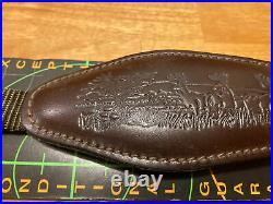Torel Suede Cowhide Rifle Sling Strap Adjustable Deer Hunting Buck Design