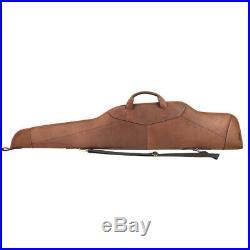 Tourbon Genuine Leather Rifle Soft Case Gun Scoped Sling Bag Safe Carry Storage