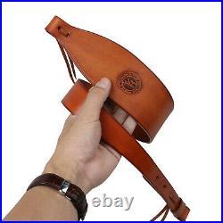 Tourbon Leather Shotgun Slings Rifle Strap Quick Release Shooting QD Swivels Set