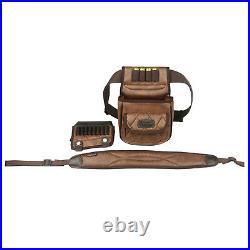 Tourbon PU Leather Rifle Cartridges Holder Cheek Rest+Gun Sling+Ammo Waist Pack