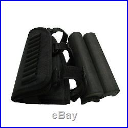 Tourbon Rifle Cheek Rest Comb Riser Ammo Holder+Leather Gun Sling Swivels in USA