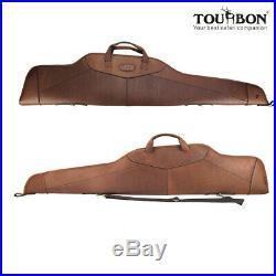 Tourbon Rifle Soft Case Gun Slip Scoped Sling Bag Carry Leather Vintage Antique