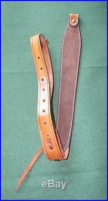 Triple K #60 Top Grain Basketweave Leather Rifle Sling Mint Condition