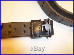 Turner Saddlery National Match Leather Military Shooting Sling, Black withHardware