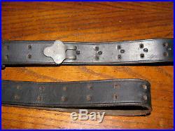 Turner black leather rifle sling m1907 used