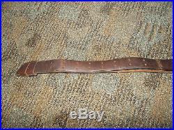 Us Army Trapdoor Springfield / Krag Rifle Leather Sling-original-complete