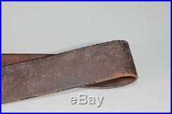 US Civil War Indian Wars Leather Rifle Musket Sling Strap Inspector Marked S81