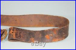 US Civil War Indian Wars Unit Marked Leather Rifle Musket Sling Strap Nice! S80