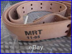US Military Issue Leather M1907 Rifle Sling, Unissued, Unused with Bag, 1985
