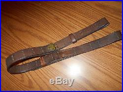 US Springfield Garand M1 Rifle 03A4 Sniper WW2 1907 Pattern Leather Sling GMS RS