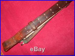 US Springfield Garand M1 Rifle 03A4 Sniper WWI 1907 Pattern Leather Sling 1918