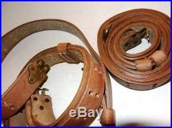 U. S. 1907 WWI Pattern Leather Rifle Sling Brass Fittings (Repro) X 2 UNITS