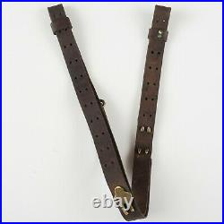 U. S. Army WWII M-1918 B. A. R. 3 Hook Rifle Sling Leather