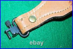 U. S. Made, Pathfinder, Basketweave Tooled Padded Leather ST305P Rifle Sling 32