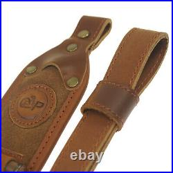 Upgrade Leather Rifle Gun Two Point Sling Carry Straps with Cartridge Holder