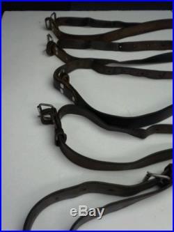 VINTAGE AK MILITARY SURPLUS RIFLE BROWN LEATHER SLING 7.62x39 5.45x39