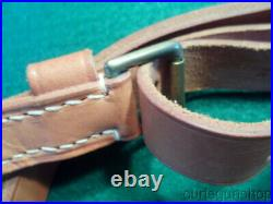 VINTAGE BROWNELL'S LATIGO 1 LEATHER RIFLE SLING With QD SWIVELS MFG IN W. GERMANY