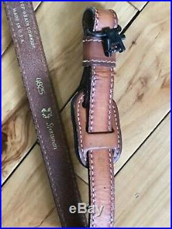 VINTAGE TOREL PADDED TOP GRAIN COWHIDE LEATHER RIFLE SLING #4825 WithEAGLE EMBOS
