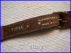 VINTAGE TOREL RIFLE OR SHOTGUN SLING LEATHER DOUBLE LOOP TYPE SLING / NOS