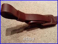 VTG NOS Leather Rifle Sling PATHFINDER Adjustable Rifle Sling Leather CB366P USA