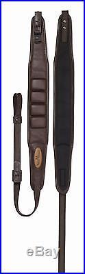 Vero Vellini Premium Leather Padded Rifle Sling Brown