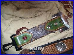 Very nice LEATHER EASY ADJUST RIFLE SLING MONTANA SILVER SMITH HARDWARE