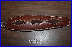 Vintage 1980 Made In USA Torel Harness Cowhide 4741 Leather Padded Rifle Sling