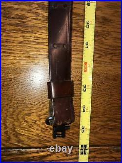 Vintage 1 Red Head Brand Leather Rifle Sling/Strap, with Swivels