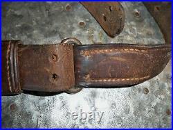 Vintage 2 Hole Leather Rifle Sling 1873 Trapdoor 1898 Krag OLD unmarked