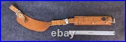Vintage Al Freeland Rock Island Illinois Leather Rifle Sling Adjustable