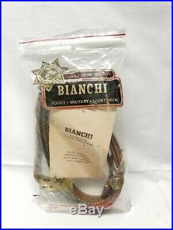 Vintage Bianchi 64 Cobra Brown Tan Leather Basketweave Rifle Sling