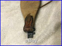 Vintage Bianchi Grande Leather Cobra Rifle Sling WithSwivels Basketweave