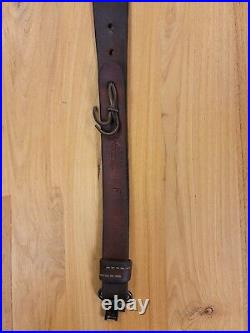 Vintage George Lawrence Tooled Leather Rifle Gun Sling 2F 2 1/4