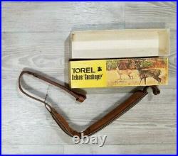 Vintage Hunter Deer Acorn Leather Tooled Padded Rifle Shotgun Gun Sling