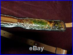 Vintage Hunter Leather Deer Head Rifle Sling No 27025