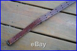 Vintage Leather Sling With Swivels Remington 700 Winchester 70 Marlin 336 391 1894