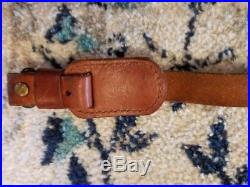 Vintage Leather Sling With Swivels for Remington 700 Winchester Pre 64 Rifle 70 54