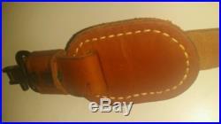 Vintage Leather gun strap Brown deer hunter rifle sling