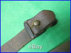 Vintage Original Leather Rifle Sling for German 98k Mauser Rifle 98 K98
