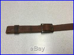 Vintage Original Marlin Firearms Logo Factory Leather Rifle Sling Horse & Rider