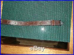 Vintage Pathfinder Leather Rifle Sling with tooled design with Elk, Ram, Deer