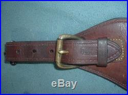 Vintage R T Frazier Saddlery Antique Leather Rifle Sling Adjustable 24 to 30