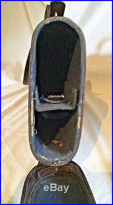 Vintage Rifle Case with Shoulder Strap Leather Gun Holder Carrying Shotgun Sling
