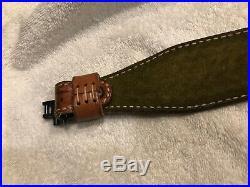 Vintage Safariland Cobra Rifle Sling With Swivels, Basketweave Pattern