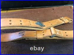 Vintage Springfield Model 14 Rifle 1 1/4 wide Rifle Leather Sling Military NEW