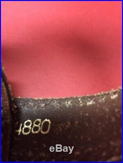 Vintage Top Grain Cowhide Leather Rifle Sling Stamped Hand Tooled Buck Deer USA