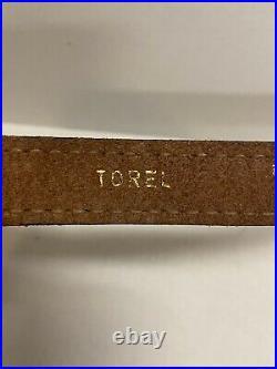 Vintage Torel 4751 Padded Leather Rifle Sling Elk Design Made in USA