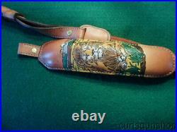 Vintage Torel #4842 Padded Leather Lion Motif' Rifle Sling